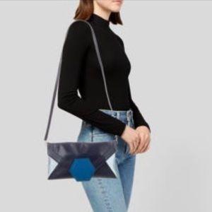 JONATHAN ADLER Blue Envelope Clutch Bag